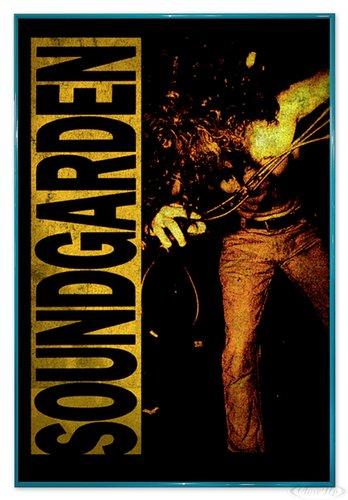 Close Up Soundgarden Poster Louder Than Love (94x63,5 cm) gerahmt in: Rahmen türkis