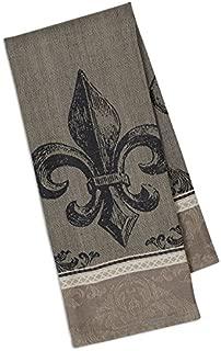 Dish Towel - Fleur De Lis Design - 100% Cotton, Jacquard Weave