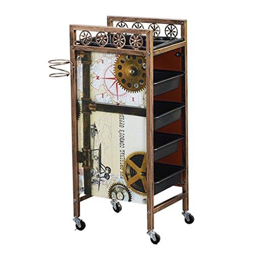 Jian E riemschijf keukentrolley rolwagen - Beauty Salon trolley gereedschapswagen kapperswinkel meerlaagse gereedschapswagen retro //
