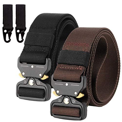 Chalier Braun + Schwarz Cinturón, Marrón + Negro, Talla única para Hombre