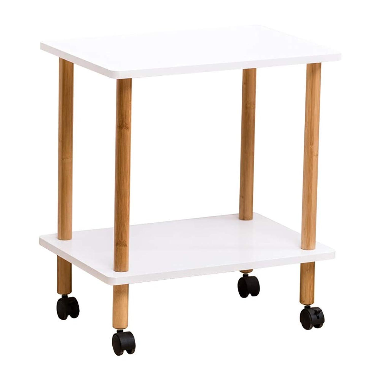 ブリッジ不健全取るに足らないAxdwfd 折りたたみ式テーブル サイドテーブル、リムーバブルティーテーブルリビングルームサイドテーブルソファトロリーラック (Size : 2-Tier)