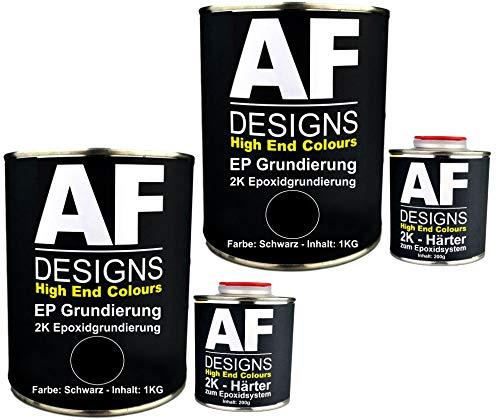 Alex Flittner Designs Epoxidfüller 2 x 1,20kg 2K Grundierung Füller EP Füller in schwarz für Autolack Rostschutz
