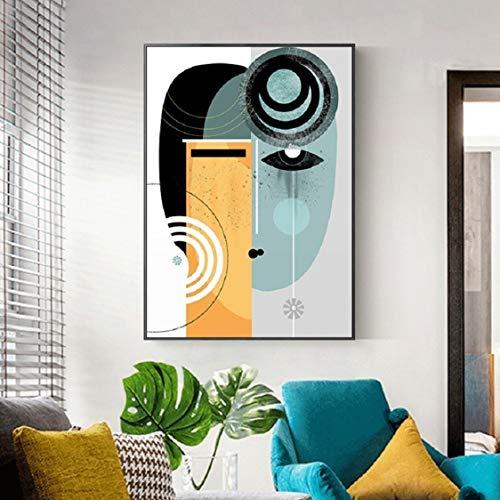 Danjiao Figura Abstracta Vintage Lienzo Geométrico Pintura Carteles E Impresiones De Pared Para Sala Decoración Nórdica Decoración Del Hogar Sala De Estar Decor 40x60cm