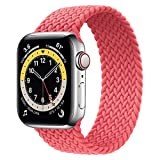 WAAILU Solo Loop Braided Band Woven Compatible for Apple Watch SE Series 6 40mm 44mm Compatible for Iwatch 5/4/3/2/1 38mm 42mm-(Pink-42/44-12)