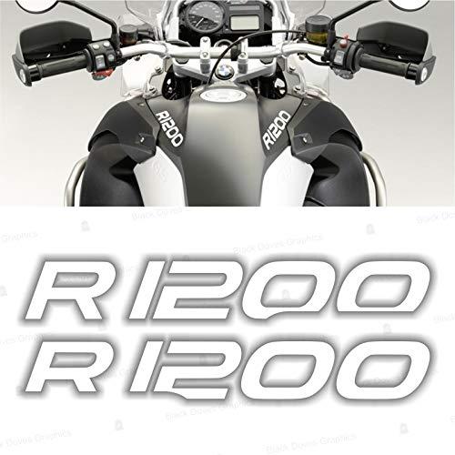 2X R1200 for BMW Motorrad R 1200 GS ADESIVI Pegatina Stickers AUTOCOLLANT AUFKLEBER VINIL Motorcycle r1200gs (White)
