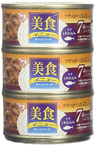 アイリスオーヤマ 美食メニューシニア用ツナ一本仕込みかつおぶし入りとろみ仕立て 猫用 (70g×3P)×15個セット