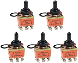 WMYCONGCONG 5 PCS DPDT On/Off/On 3 Position Toggle Switch AC 15A 250V with Waterproof Rubber Cap