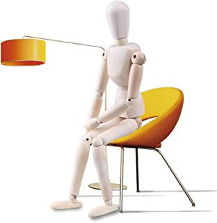 Moi Doi Wooden Mannequin, Wood Manikin with Stand, Artist Human Figure Articulated Model,Great for Drawing/Sketch or Deskt...