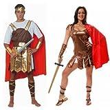 Fancy Me Couples Hommes et Femmes Romain Guerriers GLADIATEURS Costume toge Grecque déguisement Costume déguisement