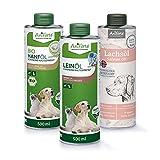 AniForte Barf-Öl Set 3 mit je 500ml Leinöl, Hanföl und Lachsöl für Hunde & Katzen –...