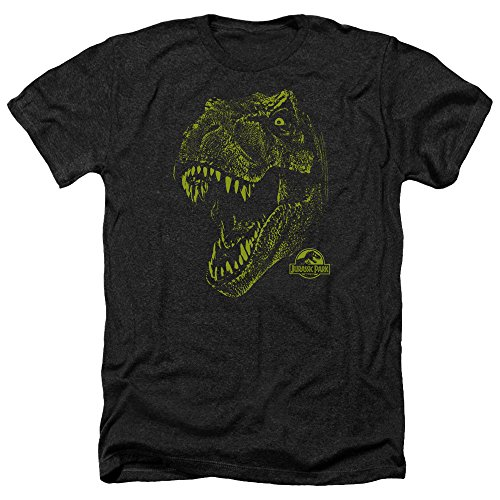 Jurassic Park Rex Mount Movie Adult Heather T-Shirt Tee Gr. L, Schwarz
