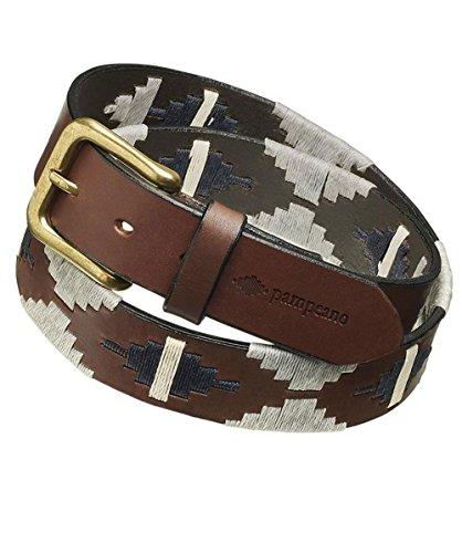 Pampeano ceinture de polo en cuir tornado Brun & Gris 34