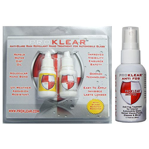 Proklear Nano Anti Glare Anti Rain Windshield/Glass Water Repellant Treatment With Free...