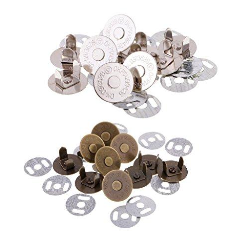 argent 20 ensembles de goujons rivet /à t/ête plate de 10 mm x 7 mm outils de couture durables pour chaussures de sac