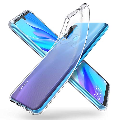 "ORNARTO Durchsichtig Kompatibel mit Huawei P30 Lite Hülle, Transparent TPU Flexible Silikon Handyhülle Schutzhülle Case für Huawei P30 Lite(2019) 6,15""-Klar"
