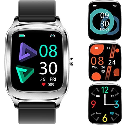 Smartwatch,  1.65Inch Reloj Inteligente,  Pulsera Actividad con Fitness Tracker, Cronómetro,  Calorías,  Podómetro,  Pulsómetro,  Monitor de Sueño,  IP67 Impermeable,  Reloj de Fitness para Mujer Hombre Niño