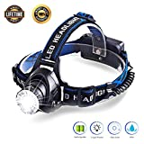 Dupad story Headlamp Flashlight,Brightest 1000 Lumen Led Rechargeable Headlamp,18650 LED Headlamps for Adults with Zoomable Work Light for Camping,Hiking,Fishing,Outdoors