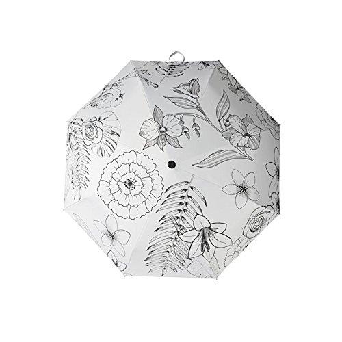 cjc Regenschirm Leichtgewicht Sonnenschutz UV-beständig Falten Sonnenschirme Sonnig Regen Dual-Use Doppelte Isolierung (Muster : 2)