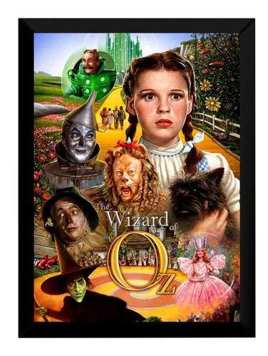 Quadro Filme O Mágico De Oz Arte Poster Moldurado