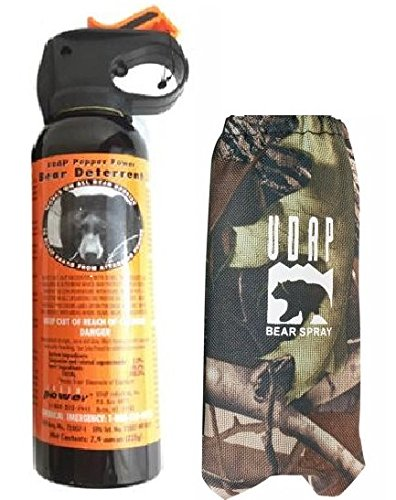 Udap Bear Spray with Camo Hip Holster