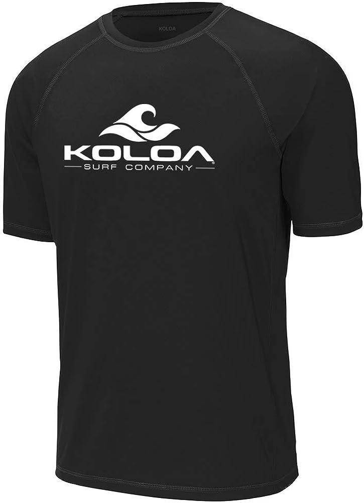 Koloa Surf Mens Classic Wave Logo UPF 50 Rashguard Tees in Sizes XS-4XL