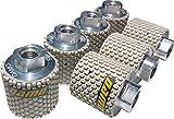 DAMO 2 inch Dry Diamond Polishing Drum Wheels Set of 7 PCS for Granite Marble Concrete Sink Cutouts