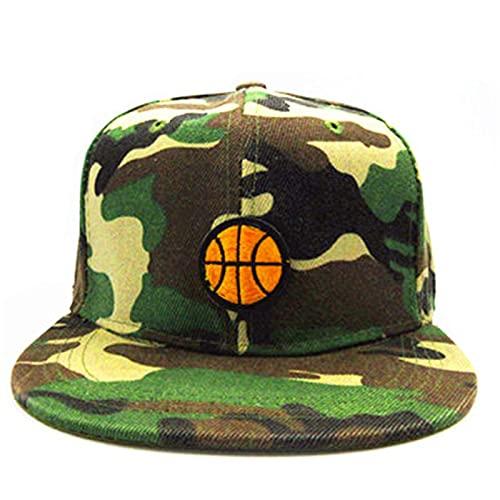 UKKD Gorra De Béisbol Baloncesto Bordado Algodón Gorra De Béisbol Hip-Hop Cap Ajustable Snapback Sombreros para Hombres Y Mujeres-Camouflage,Adult Size