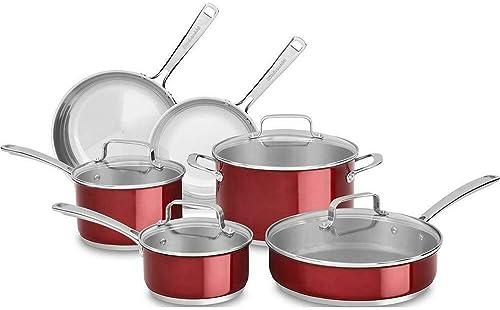 wholesale KitchenAid Cookware SS 10pc sale Candy online Apple online