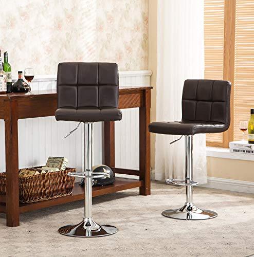 Roundhill Furniture 2 Swivel Elegant PU Leather Modern...