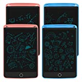 4Pack LCD Writing Tablet, 8.5inch LCD Drawing Tablet Writing Pad, Electronic Writing & Drawing Doodle Board, Toy for Kids Learning & Education(Blue+Blue+Pink+Pink)