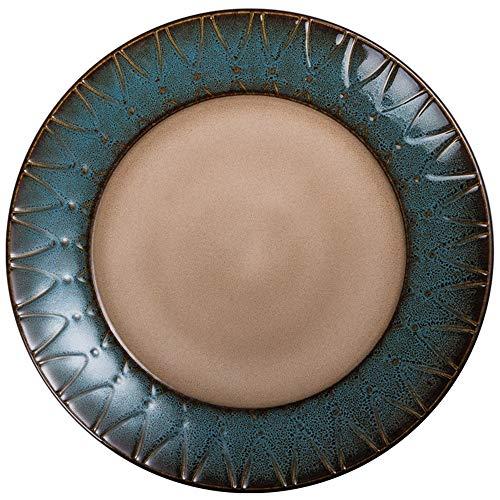Creative Kiln en céramique émaillée Vaisselle Vaisselle occidentale Assiette Steak salade Assiette Snack Plate Petit déjeuner Plate (Size : 11 Inch)