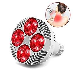 12pcs 660nm + 12pcs 850nm LED Grow Light Bulb, Led Infrared Light Heat Lamp for Indoor Office Home Garden Greenhouse Plants Flowering (660nm+850nm)