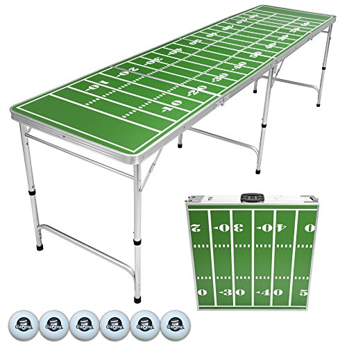 Go Pong 8-Foot Portable Tailgate / Pong Table (Includes 6 pong balls)