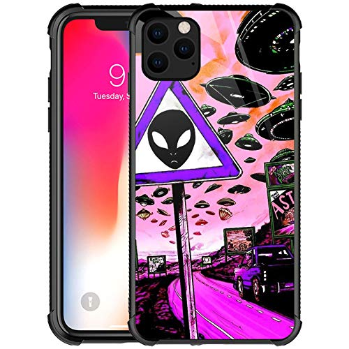 iPhone 12 Pro Max Case,Trippy Alien Pattern Design iPhone 12 Pro Max Cases for Girls Women Boys Shockproof Anti-Scratch Case for Apple iPhone 12 Pro Max