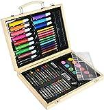 MAIN D'ARTISTE - Maletín de madera 68 piezas -030222, diseño completo, 29 cm, para salir de 5 años, multicolor, 29