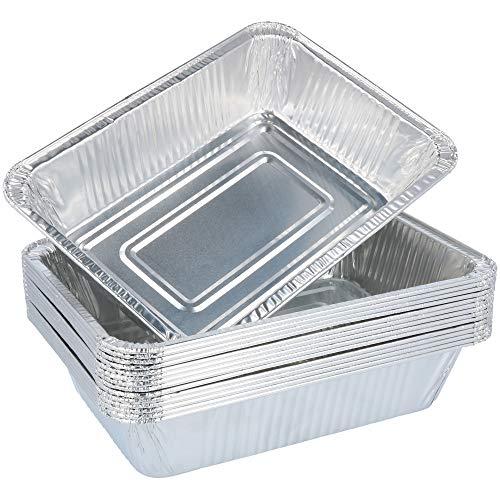 com-four® Ciotola per griglia 15x, Ciotole USA e Getta in Alluminio, griglia in Alluminio, Cucinare e cuocere al Forno, vaschetta di Raccolta per Forno e Barbecue (015 Pezzi - 22 x 15,5 x 5 cm)