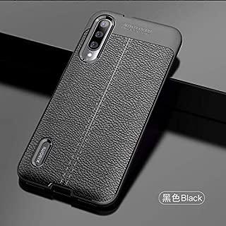 Capa Anti Impacto Tipo Couro+película Vidro Full Glue 9d Xiaomi Mi A3 (CAPA ANTI IMPACTO TIPO COURO PRETA+ PELÍCULA DE VIDRO FULL GLUE 9D PRETA)