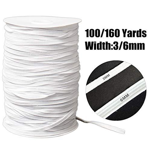 Multifunctionele witte platte geweven elastische band, kan op grote schaal worden gebruikt voor het naaien, thuis decoratie of riemen, veters, haarbanden, halzen, shorts, rokken, mouwen, panty's, hoofdbanden, veters, dagboeken, hoeden, tassen, en zelfs doe-het-zelf sieraden. 7.5*13.1cm