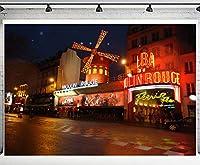 PHMOJEN 世界的に有名なランドマークビルの背景 ロマンチックな写真背景 ウェディング YouTubeポートレート 写真背景 スタジオブース小道具