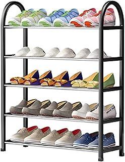 LZYMSZ Étagère à Chaussures, Empilable à 5 Niveaux, en Métal, pour le Rangement de 15 Paires de Chaussures, Montage Rapide
