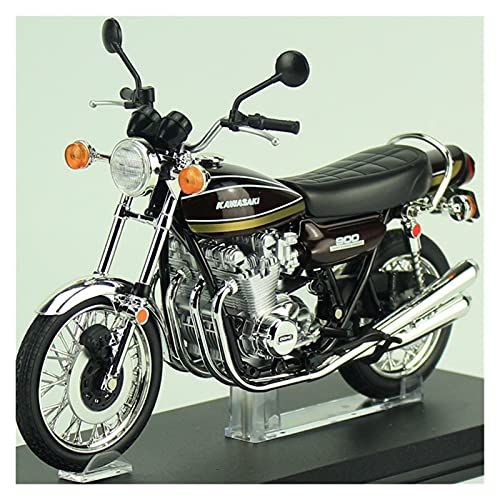 Boutique Qingdao Club 1/12 para KAW┐ASAKI-Z1 Simulación Motocicleta Modelo Locomotora Estática Decoración Colección para Adultos (Color : A)