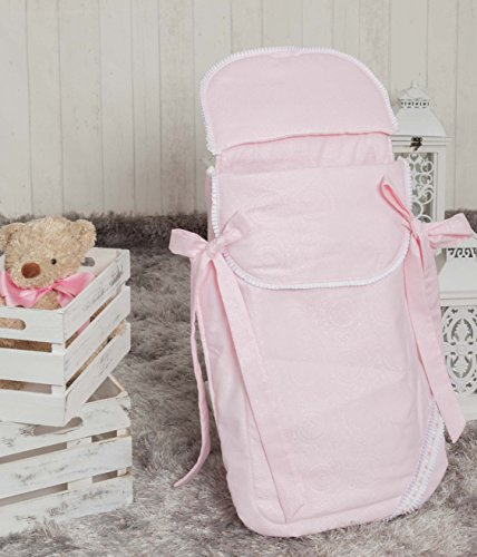 Babyline Bombón - Saco de 3 usos para capazo y silla, color rosa