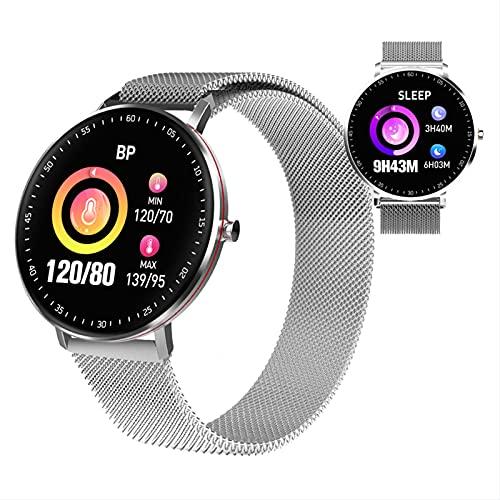 BNMY Smartwatch, Impermeable Reloj Inteligente con Cronómetro, Pulsera Actividad Inteligente para Deporte, Reloj De Fitness con Podómetro Smartwatch Mujer Hombre para Android iOS,B