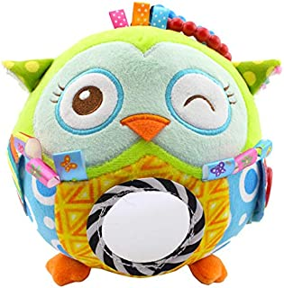 Zandreal Baby Plush Toys Adorable Animals Music Ball Early Education Learn Toy for Infant