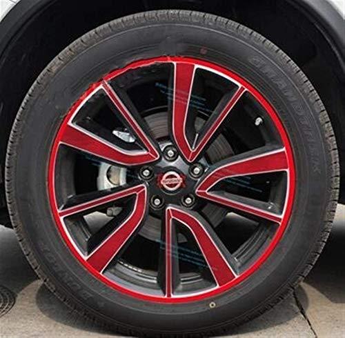ZQTG Rueda/llanta de 19 Pulgadas chapada en Colores Brillantes sin Anillo Adhesivo para Nissan X-Trail 2017 calcomanía para Auto (Nombre del Color: E)