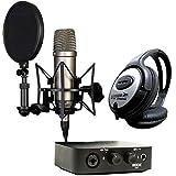Rode NT1-A condensador de micrófono + AI de 1de audio Interface + Auriculares Keepdrum