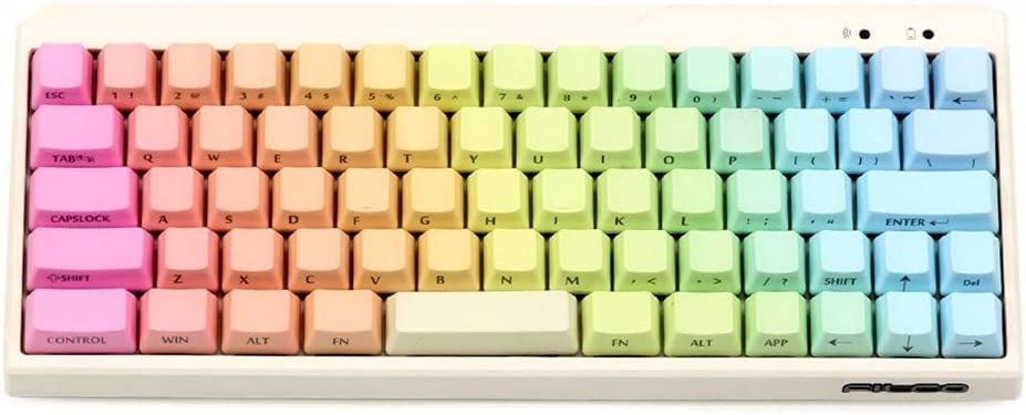 Color : Rainbow MinilaKeycap Keyboard keycaps Minila Rainbow Keycaps Side Printed for Mechanical Keyboard