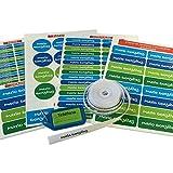 Pack de 146 etiquetas para marcar ropa y objetos. (Paleta 5) 50 etiquetas de...