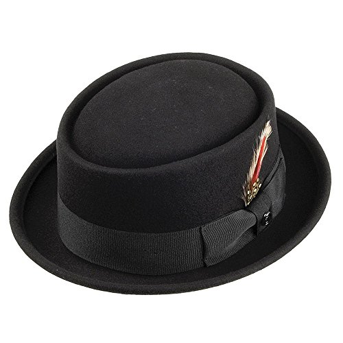 Jaxon & James Chapeau Pork Pie en Laine Noir X-Large