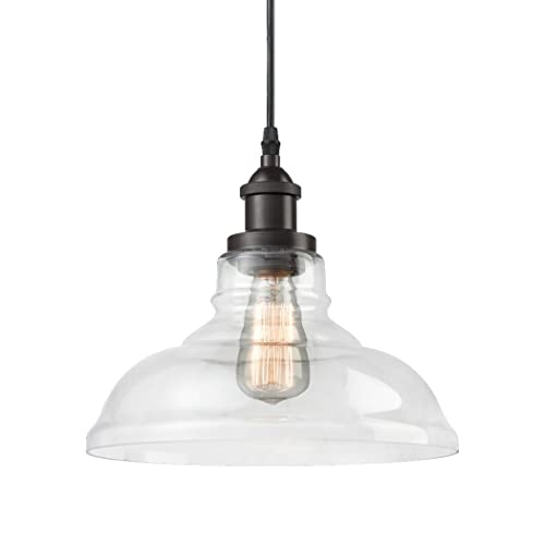 Industrial kitchen lighting fixtures Kitchen Stove Claxy Ecopower Industrial Edison Vintage Style 1light Pendant Glass Hanging Light Winkers Industrial Kitchen Lighting Amazoncom